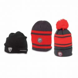 Caciula FOX BEANIE HATS – RED/GREY BOBBLE
