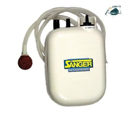Pompa aer pe baterii – Saenger pentru momeala vie